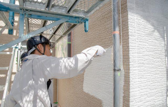 外壁塗装の下地処理、下塗り