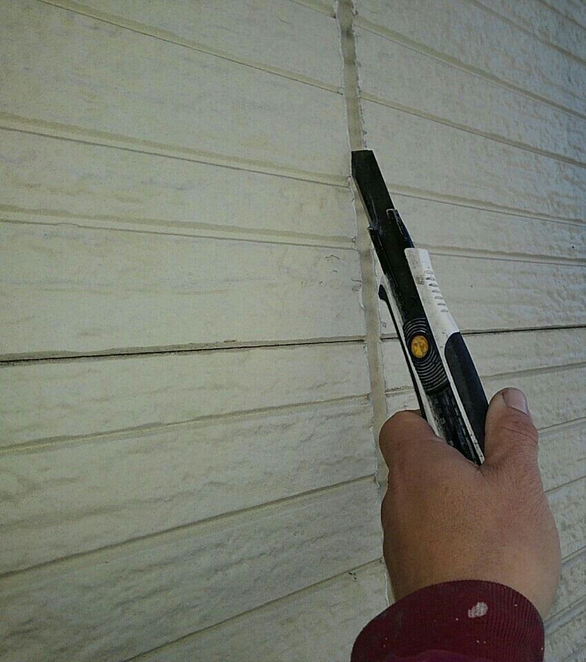 千葉県千葉市緑区 外壁塗装 下地処理 シーリング撤去 (2)
