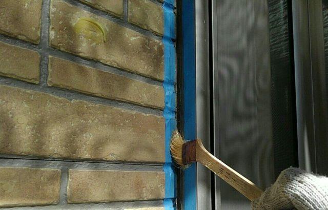 千葉県千葉市緑区 外壁塗装 下地処理 シーリング打ち替え工事 バックアップ材 プライマー塗布