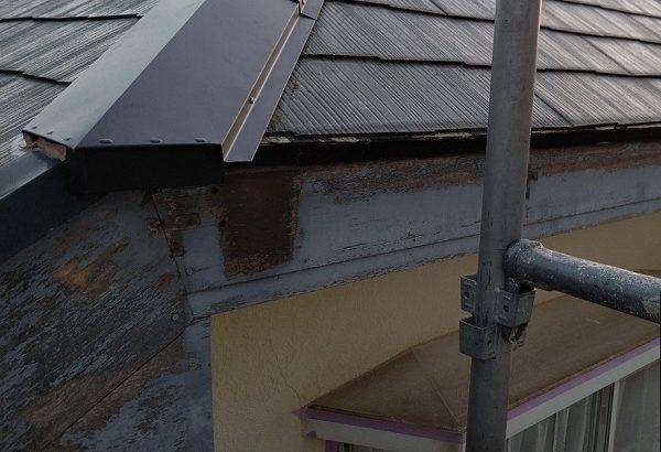 千葉県四街道市 外壁塗装 棟板金工事 雨樋交換 軒樋撤去 (1)