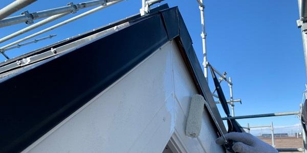 千葉県四街道市 外壁塗装 棟板金工事 雨樋交換 破風板ケレン、塗装 (1)