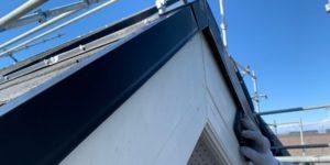 千葉県四街道市 外壁塗装 棟板金工事 雨樋交換 破風板ケレン、塗装 (2)