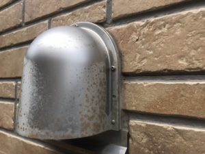千葉県千葉市花見川区 外壁塗装 水切り 換気フード (2)