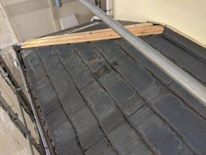 千葉県四街道市 外壁塗装 棟板金工事 雨樋交換 ガルバリウム鋼板 貫板、棟板金設置 (5)