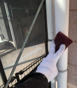 千葉県八千代市 外壁塗装 付帯部塗装 雨樋交換 竪樋塗装 (1)