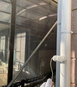 千葉県八千代市 外壁塗装 付帯部塗装 雨樋交換 竪樋塗装 (4)