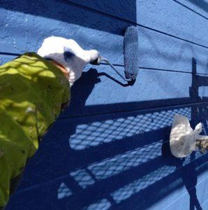 千葉県八千代市 外壁塗装 付帯部塗装 雨樋交換 外壁中塗り・上塗り 日本ペイント パーフェクトトップ ラジカル制御式 (4)