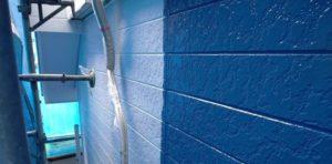 千葉県八千代市 外壁塗装 付帯部塗装 雨樋交換 外壁中塗り・上塗り 日本ペイント パーフェクトトップ ラジカル制御式 (3)