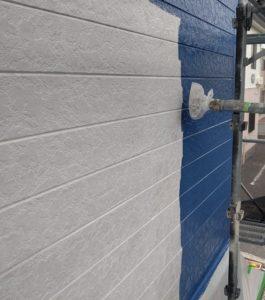 千葉県八千代市 外壁塗装 付帯部塗装 雨樋交換 外壁中塗り・上塗り 日本ペイント パーフェクトトップ ラジカル制御式 (2)