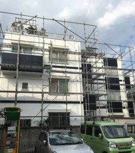 千葉県千葉市美浜区 外壁塗装 集合住宅 ケレン作業 ミズタニペイント ナノコンポジットW