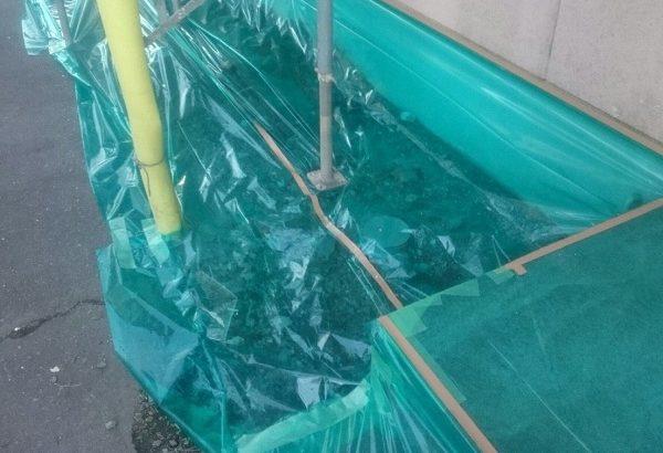 千葉県千葉市美浜区 外壁塗装 集合住宅 養生~ひび割れ補修 施工期間中の過ごし方