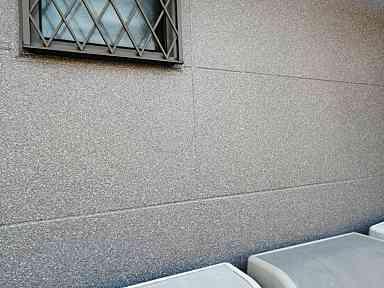 千葉県千葉市美浜区 外壁塗装 ひび割れの補修方法 目荒らし ダイフレックス ダイヤカレイド (2)