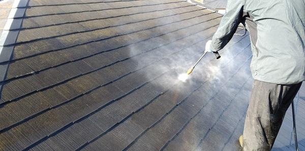 千葉県千葉市若葉区 A様邸 外壁塗装・屋根塗装・付帯部塗装 下地処理 高圧洗浄 (1)