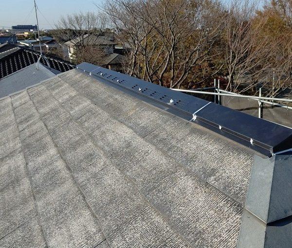 千葉県千葉市若葉区 A様邸 外壁塗装・屋根塗装・付帯部塗装 シーリング工事④ 棟板金のシーリング