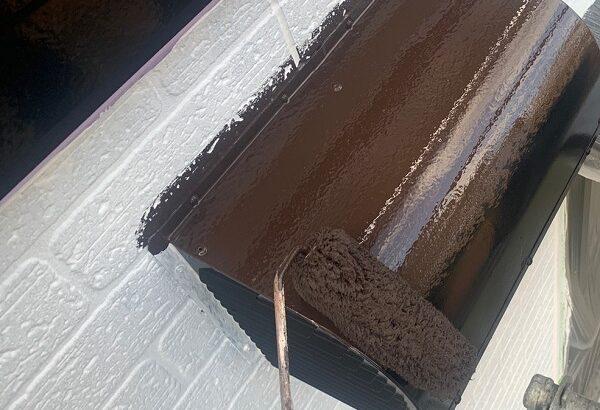 千葉県千葉市若葉区 A様邸 外壁塗装・屋根塗装・付帯部塗装 換気フード・庇の塗装 (2)