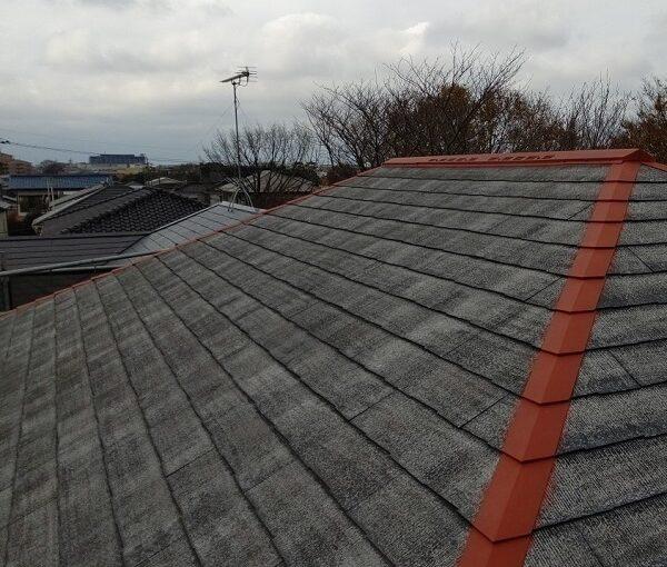 千葉県千葉市若葉区 A様邸 外壁塗装・屋根塗装・付帯部塗装 棟板金、土台水切り塗装 (3)