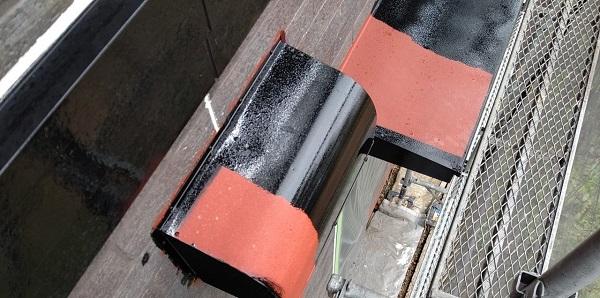 千葉県千葉市若葉区 A様邸 外壁塗装・屋根塗装・付帯部塗装 換気フード・庇の塗装 (3)