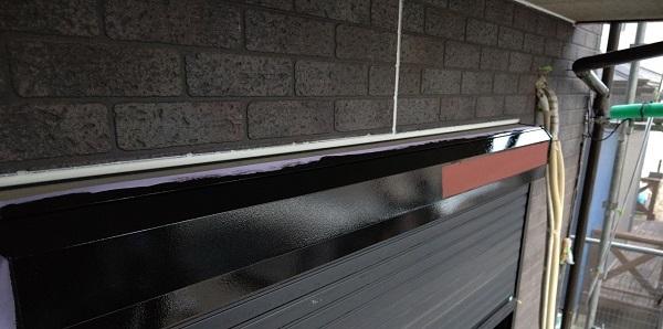 千葉県千葉市若葉区 A様邸 外壁塗装・屋根塗装・付帯部塗装 シャッターボックス塗装 (1)