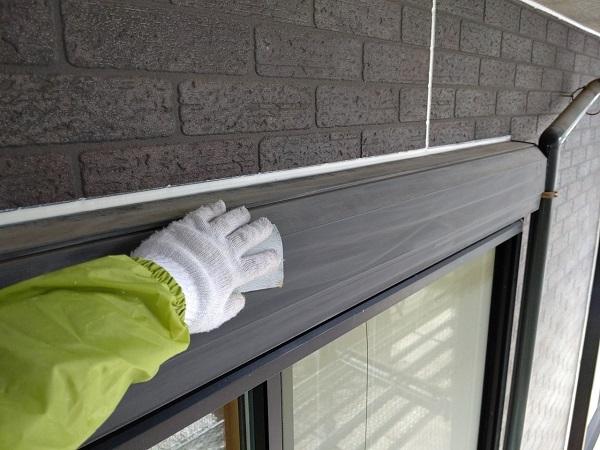 千葉県千葉市若葉区 A様邸 外壁塗装・屋根塗装・付帯部塗装 シャッターボックス塗装 (3)