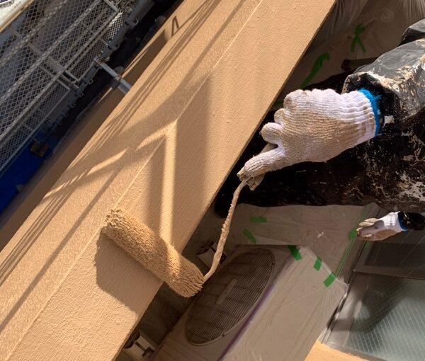 千葉県千葉市中央区 Gマンション 外壁塗装 中塗り・上塗り 塗装回数を省く手抜き業者にご注意ください! (4)