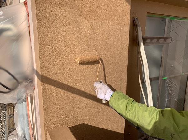 千葉県千葉市中央区 Gマンション 外壁塗装 中塗り・上塗り 塗装回数を省く手抜き業者にご注意ください! (1)