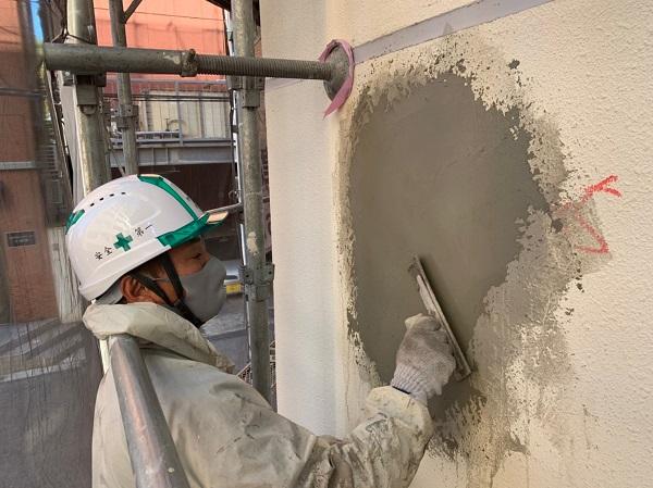千葉県千葉市稲毛区 Rビル 外壁塗装 外壁補修作業 爆裂とは (5)