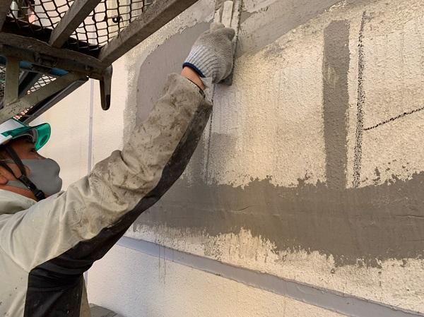 千葉県千葉市稲毛区 Rビル 外壁塗装 外壁補修作業 爆裂とは (2)