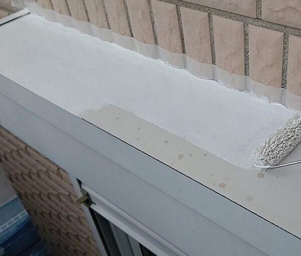 千葉県千葉市稲毛区 K様邸 外壁塗装・防水工事 シャッターボックス塗装 (9)