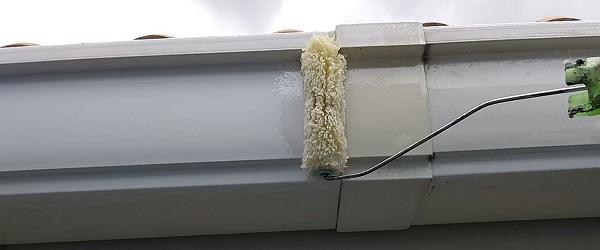 千葉県千葉市稲毛区 K様邸 外壁塗装・防水工事 横樋・軒樋の塗装 雨樋の役割とは (4)