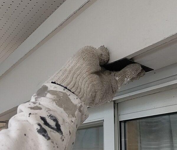千葉県千葉市稲毛区 K様邸 外壁塗装・防水工事 シャッターボックス塗装 (8)