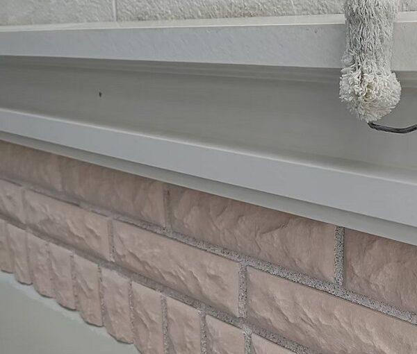 千葉県千葉市稲毛区 K様邸 外壁塗装・防水工事 帯板塗装 写真付き工程 (2)