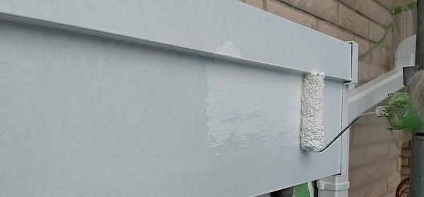 千葉県千葉市稲毛区 K様邸 外壁塗装・防水工事 シャッターボックス塗装 (5)