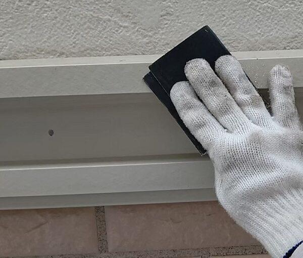 千葉県千葉市稲毛区 K様邸 外壁塗装・防水工事 帯板塗装 写真付き工程 (3)