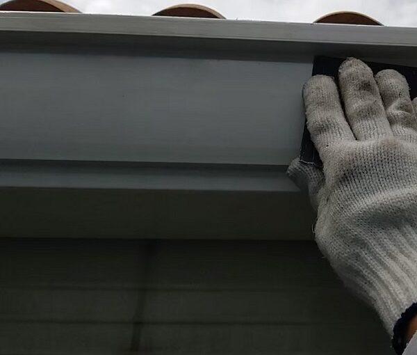 千葉県千葉市稲毛区 K様邸 外壁塗装・防水工事 横樋・軒樋の塗装 雨樋の役割とは (3)