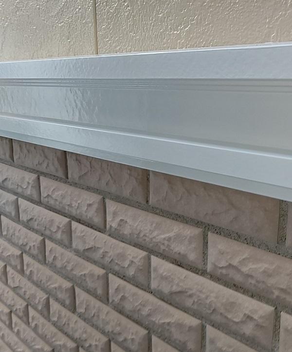 千葉県千葉市稲毛区 K様邸 外壁塗装・防水工事 帯板塗装 写真付き工程 (6)