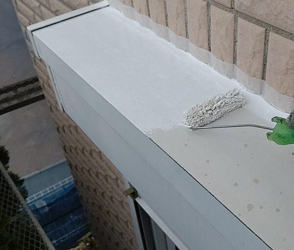 千葉県千葉市稲毛区 K様邸 外壁塗装・防水工事 シャッターボックス塗装 (7)