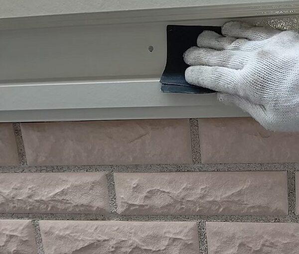 千葉県千葉市稲毛区 K様邸 外壁塗装・防水工事 帯板塗装 写真付き工程 (8)