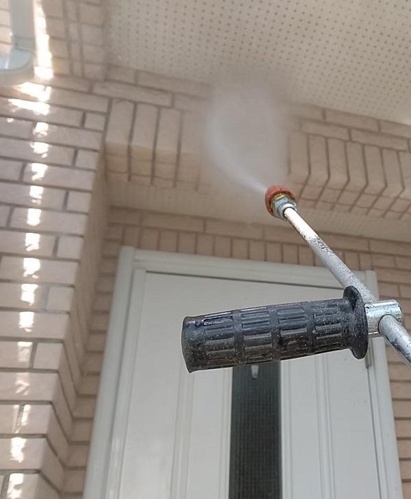 千葉県千葉市稲毛区 K様邸 外壁塗装・防水工事 下地処理 高圧洗浄 (6)