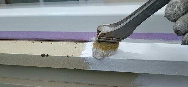 千葉県千葉市稲毛区 K様邸 外壁塗装・防水工事 帯板塗装 写真付き工程 (7)