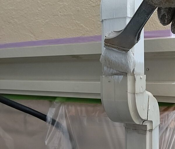 千葉県千葉市稲毛区 K様邸 外壁塗装・防水工事 竪樋・縦樋塗装 雨樋の名称 (5)