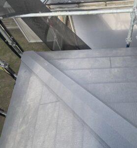 千葉県成田市 H様邸 屋根重ね葺き工事 外壁塗装 棟板金設置 屋根施工完了 (9)