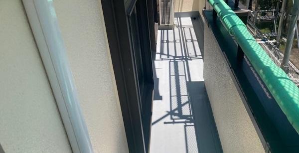 千葉県成田市 H様邸 屋根重ね葺き工事 外壁塗装 ベランダ トップコート塗り替え (2)