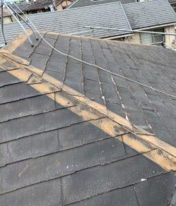 千葉県成田市 H様邸 屋根重ね葺き工事 外壁塗装 棟板金解体 ルーフィング貼り (1)
