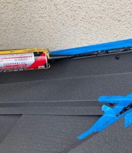 千葉県成田市 H様邸 屋根重ね葺き工事 外壁塗装 棟板金設置 屋根施工完了 (17)