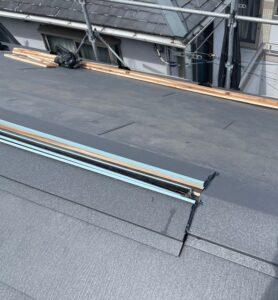 千葉県成田市 H様邸 屋根重ね葺き工事 外壁塗装 棟板金設置 屋根施工完了 (7)