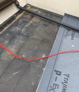 千葉県成田市 H様邸 屋根重ね葺き工事 外壁塗装 棟板金解体 ルーフィング貼り (4)