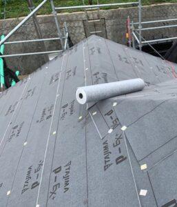千葉県成田市 H様邸 屋根重ね葺き工事 外壁塗装 棟板金解体 ルーフィング貼り (5)