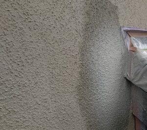 千葉県成田市 H様邸 屋根重ね葺き工事 外壁塗装 リシン吹き付け (2)