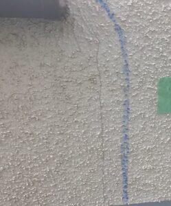 千葉県成田市 H様邸 屋根重ね葺き工事 外壁塗装 外壁劣化補修 ひび割れ(クラック)0 (1)