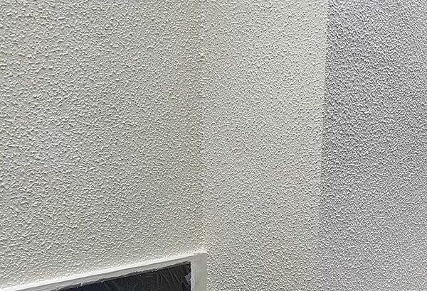 千葉県成田市 H様邸 屋根重ね葺き工事 外壁塗装 外壁中塗り 上塗り